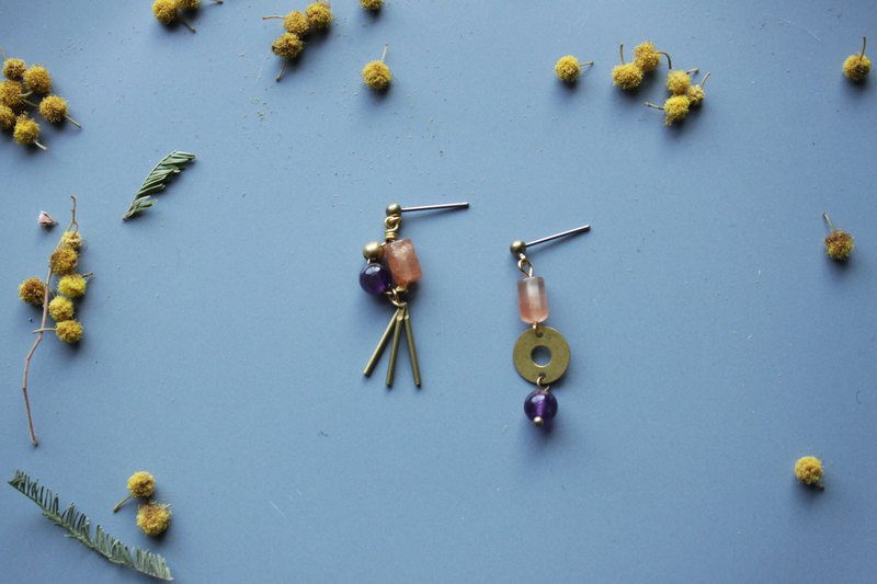 Goldfish and net - earring  clip-on earring