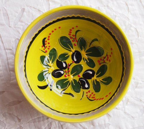 French painted ceramic bowl