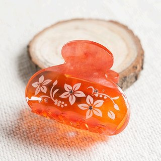 Transparent,carve flower 6.5cm hair claw,claw clip-red