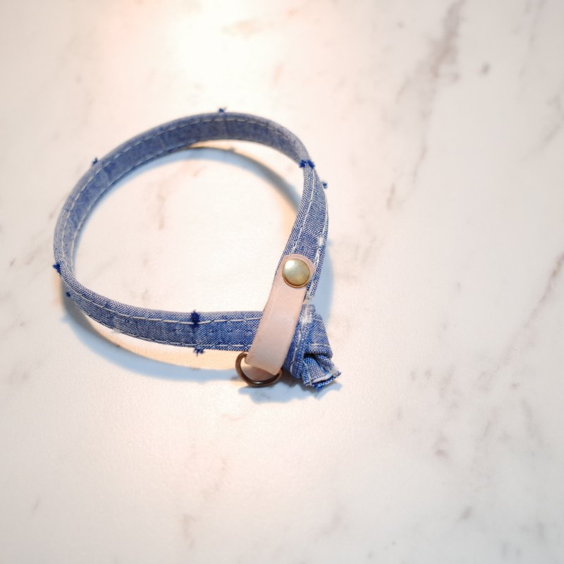 Cat collars, blue jeans color with loft style , KF191206