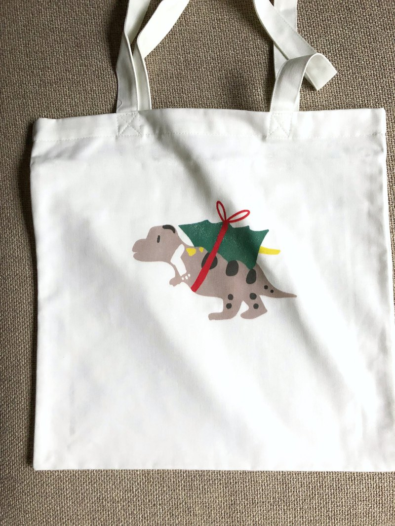 Dinosaur carrying a tree - Tyrannosaurus cotton bag - Tote bag dinosaur canvas bag