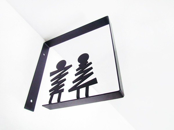 * Design section * Side lock type box toilet sign, dressing room listing, bathroom tag, toilet sign