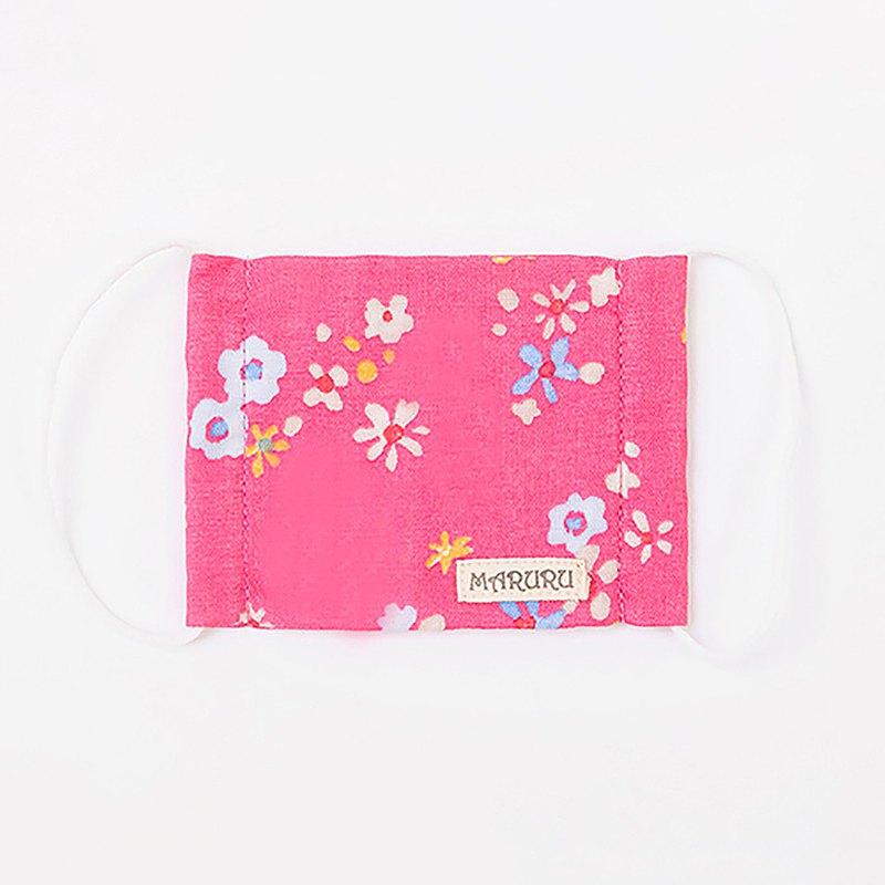 嬰童造型口罩 桃紅小花