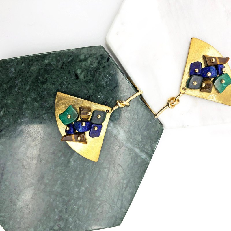 Natural stones 14kgf Earrings【Valentines Day Gift】【Japanese Style】New Year Gift