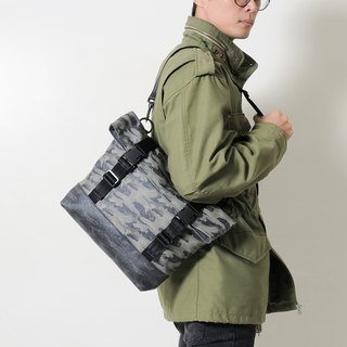 GUERRILLA-Handmade Camouflage Printed Waterproof Canvas Folded Side Back/Pen Pack