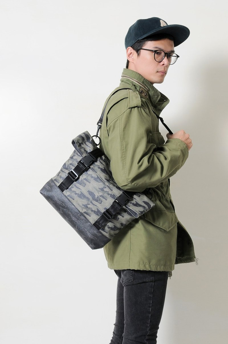 Christmas GUERRILLA-Handmade Camouflage Printed Waterproof Canvas Folded Side Back/Pen Pack