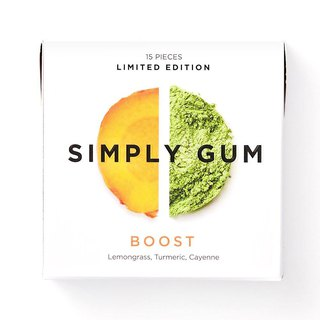 Simply Gum Invigorating Lemongrass Turmeric Chewing Sugar
