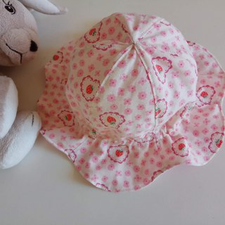 Flower-shaped baby hat ruffler baby hat visor