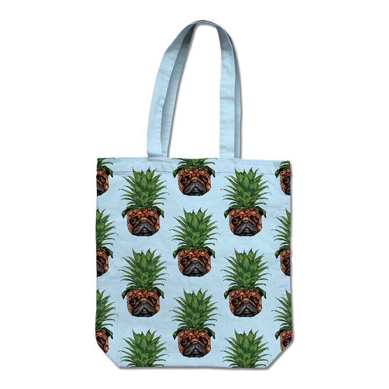PUG Life • Pineapple Pug • Tote Bag