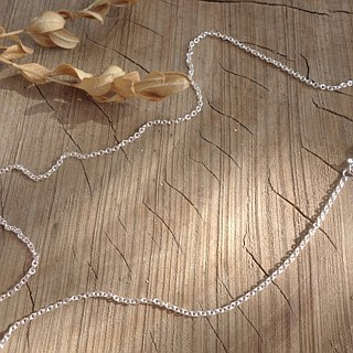 Sterling silver chain - medium thickness, 18 inches, width 2mm (for pendants)