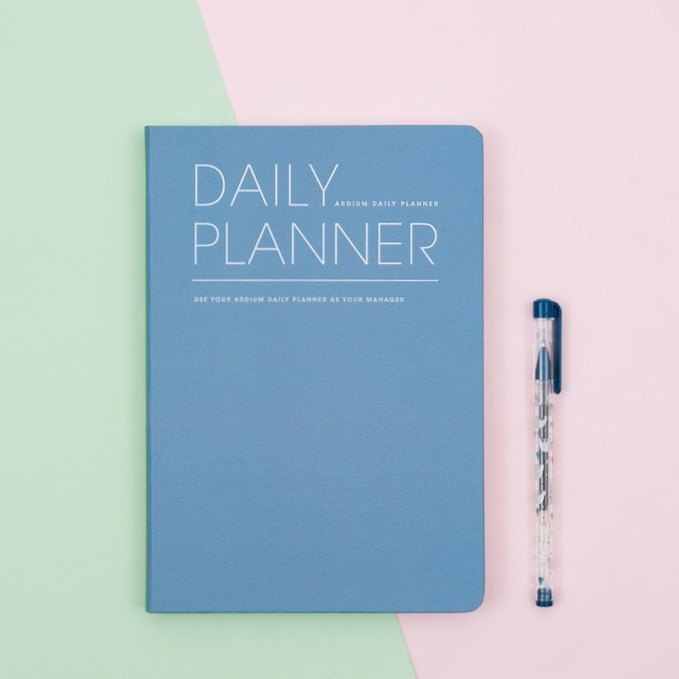 2018 ARDIUM DAILY PLANNER (No Time) Calendar / Pocket Book - Sea Blue