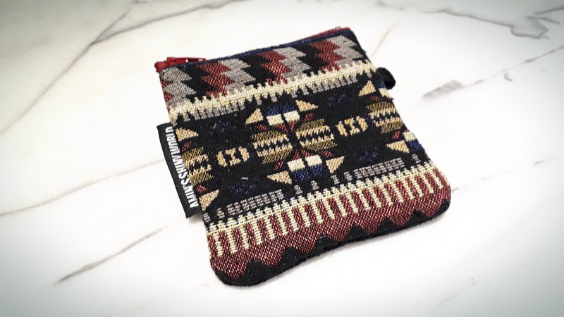 AMIN'S SHINY WORLD hand-made ethnic style weaving small change bag g