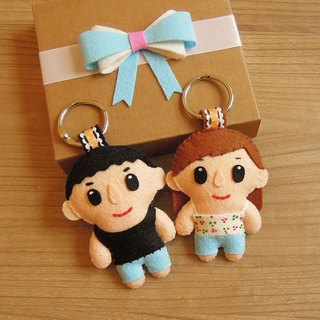 y planet _ custom couple / friend / commemorative small doll 2 into the group