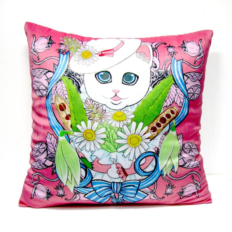 GOOKASO lady cat head pillow CUSHION pillowcases pillow sets can be removable and washable