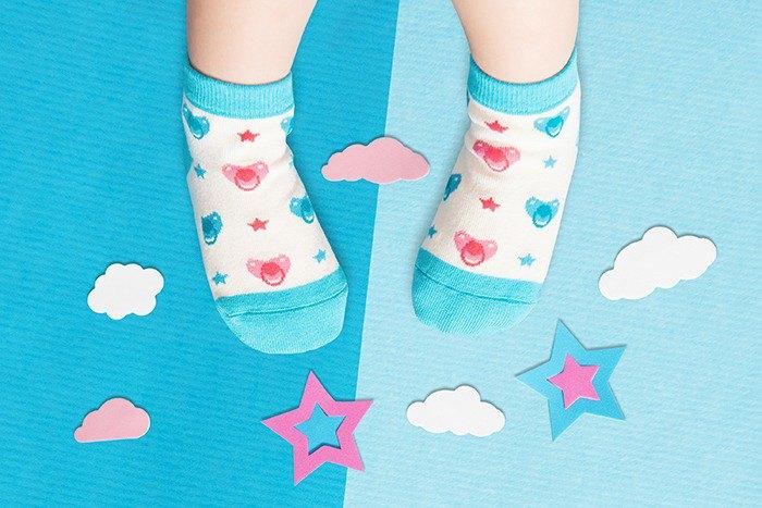 【快速出貨/免運】奶嘴星防滑2分之1童襪│質感禮盒包裝