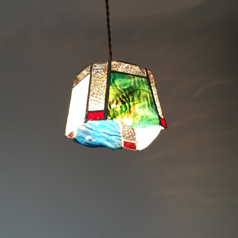 Pendant light Seaside night blue blue green View