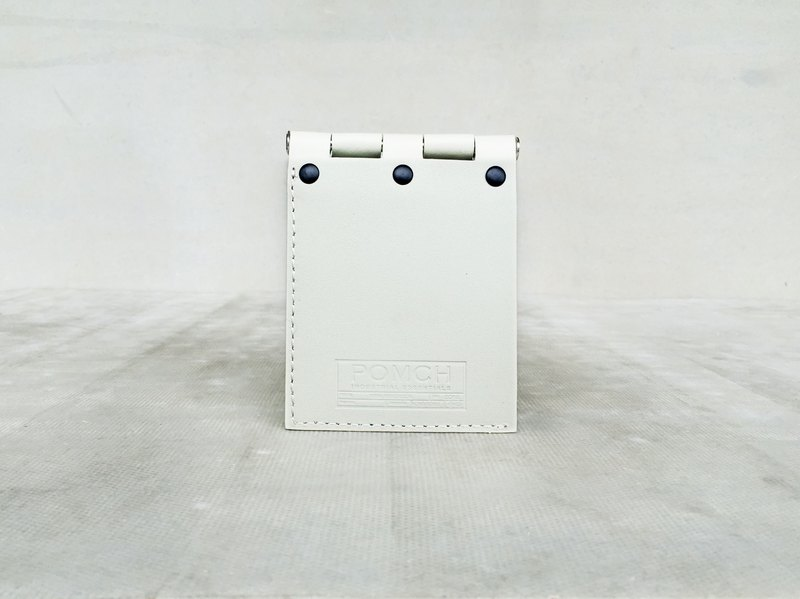 """POMCH"" - HINGE hinge leather short wallet (White)"