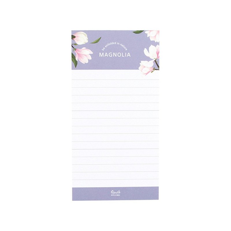 Flower bloom note paper 05 Magnolia with zipper packaging