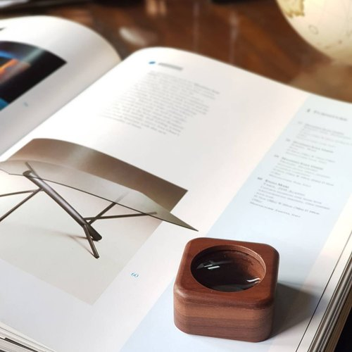 【BESTAR】WOOD SQUARE MAGNIFIER (FOR HIM/HER)