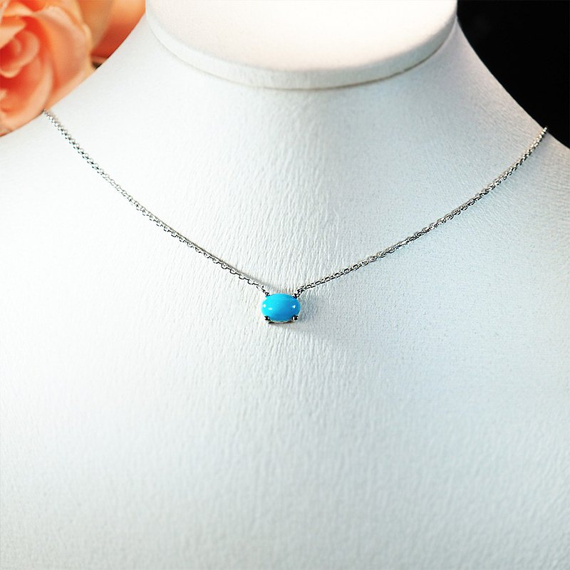 || December Birthstone || Single Turquoise 925 Sterling Silver Very Fine Clavicle Necklace