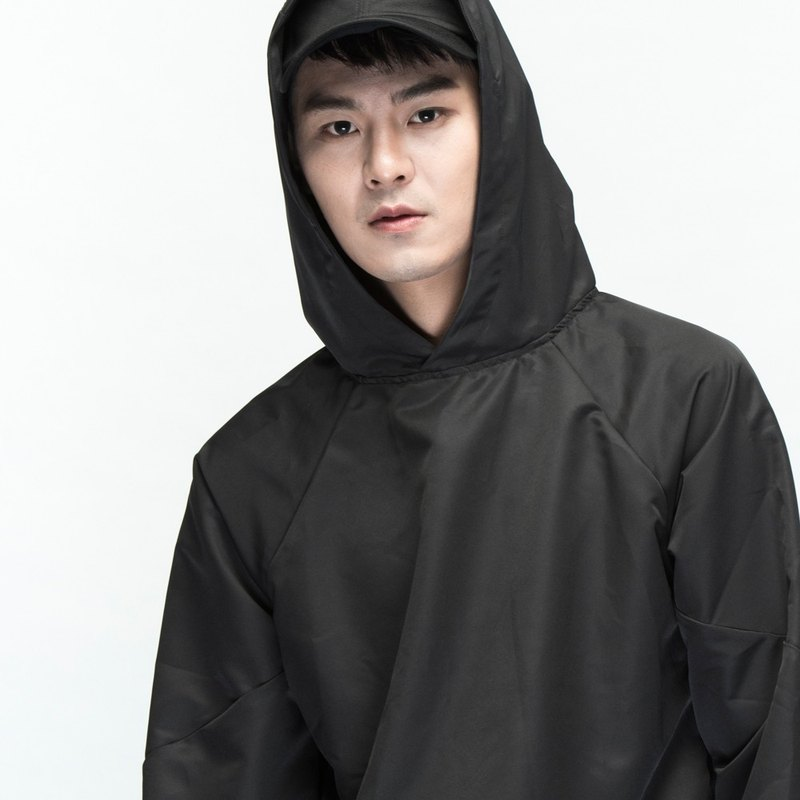hao Black Waterproof Hoodie Black Water Proof Tee