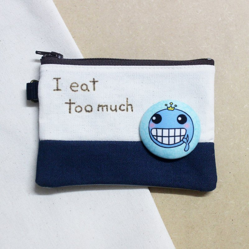 Customized _ write a word coin purse / certificate sleeve / double storage bag_ (multiple pattern selection to send lanyard)