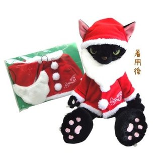 [Christmas Edition] SCRATCH, Japan caught cat fluffy doll (28CM)_Black