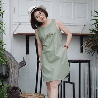 Sleeveless Dress : Mr.Richard Parker (Green)