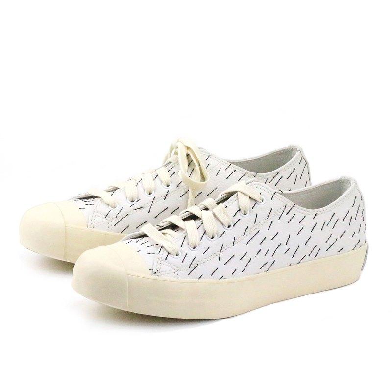 Sweet Villians M1163 手工真皮縫線休閒運動鞋 白色