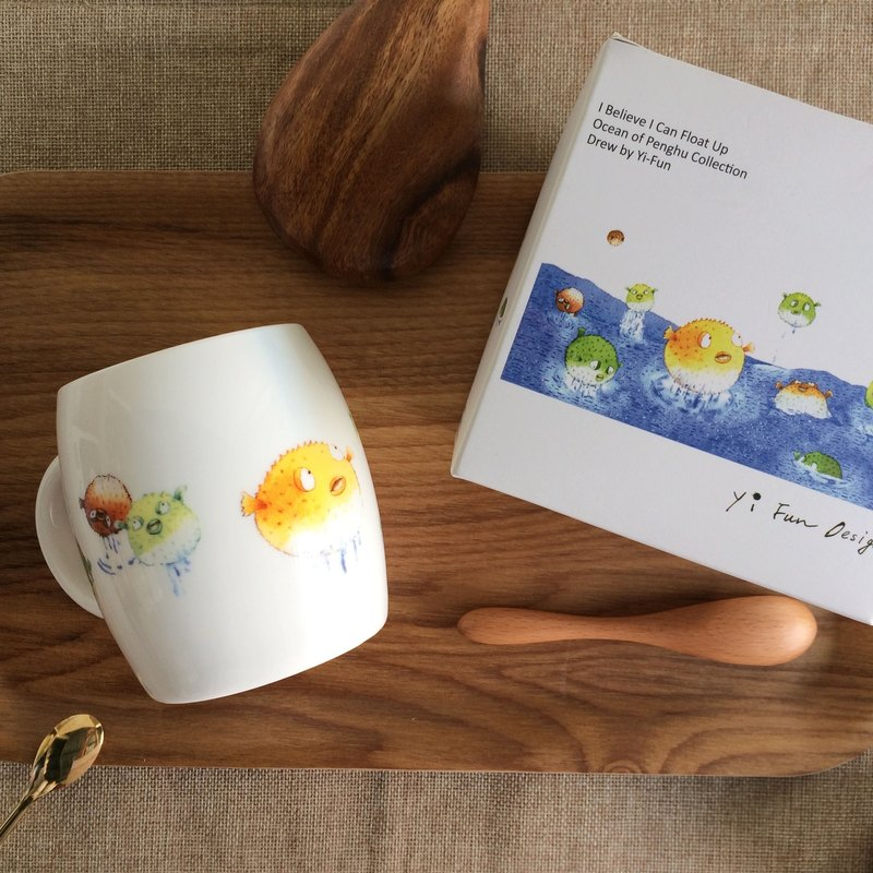 Ocean Mug - Pufferfish - I believe I can fly
