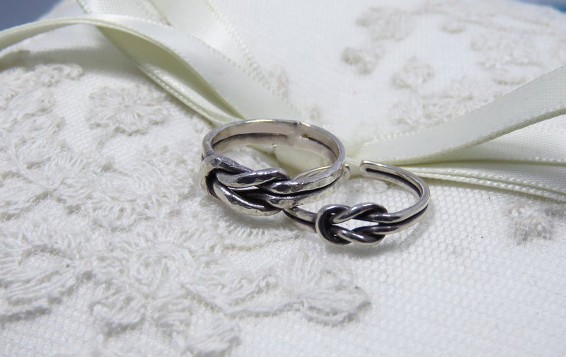 Customized sterling silver double buckle ring [相 相]