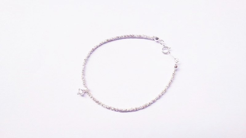"""Classic Series"" classic (small) coins shimmer Zircon Bracelet"