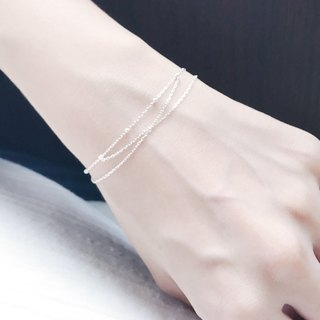 :: Silver Song Trio :: Glow Silver Scale Bracelet
