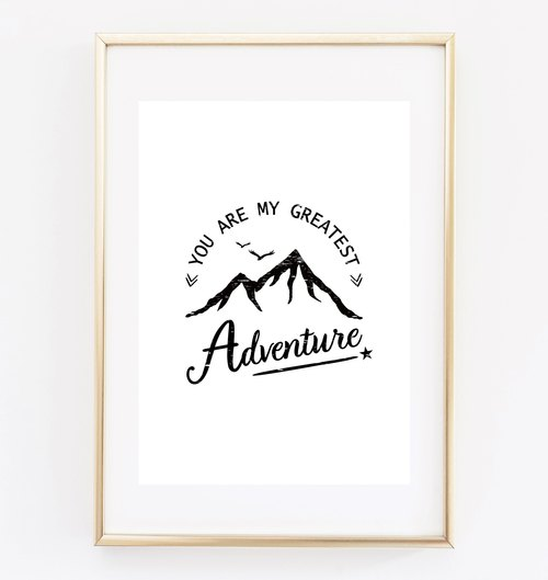 greatest adventure Customizable Hanging Poster