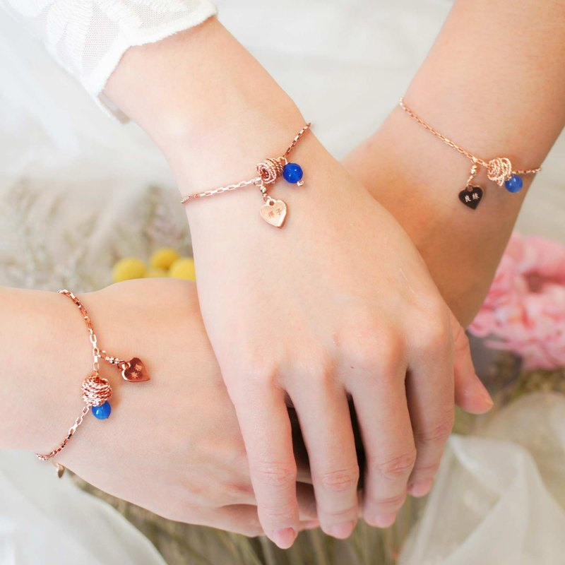 Valentine's Day Gifts*Customized*Lettering Bracelet*girlfriends gift*Rose Blue Agate Hug Love_1