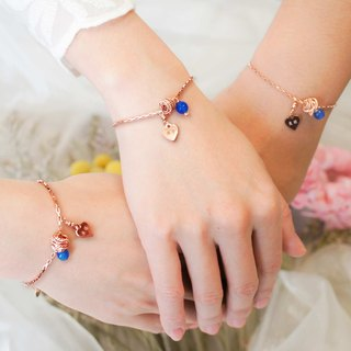 [Bride Bride Gift] Rose Blue Agate Hug Love _ A group of sisters birthday commemorative engraving