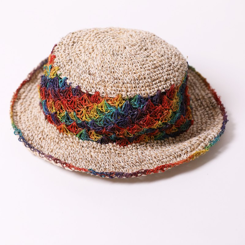 hemp cotton hat | rainbow |  fair trade