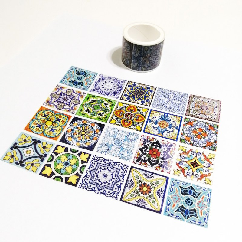 Washi Tape Big Portuguese Tiles 2M