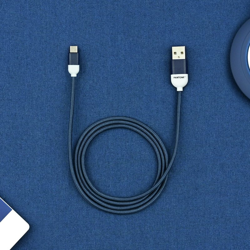 Pantone Nylon Braided Cable Type-C to USB A