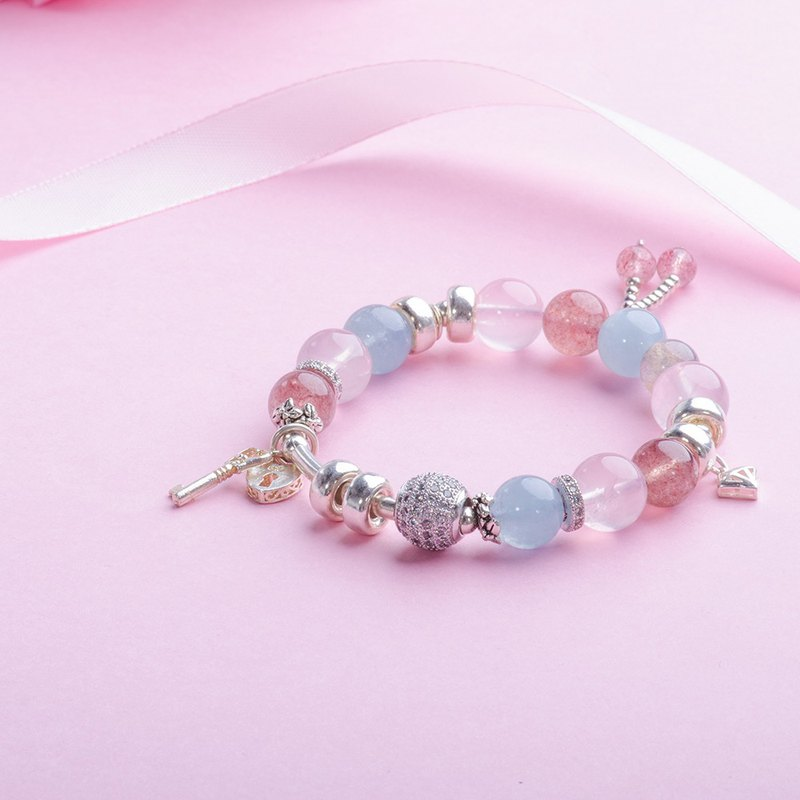 Rose Quartz, Aquamarine, Labradorite 925 sterling Silver Natural Gemstone Crysta