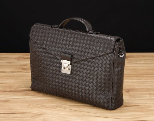 STORYLEATHER made Style 6305 woven briefcase