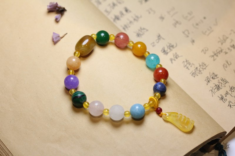 Duobao crystal bracelets in a variety of colors jade crystal combination into a single ring bracelet