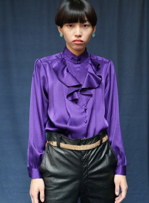 Pumpkin Vintage. Ancient court wind chiffon shirt
