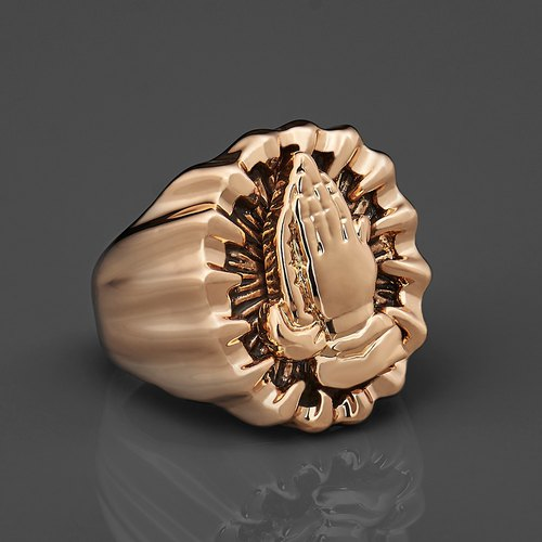 Prayer hand ring