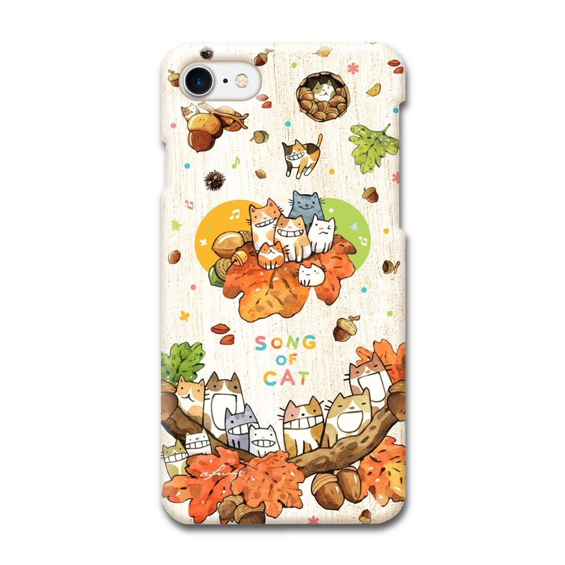 (Order order) afu illustration phone case - iPhone7/7s - Oak Fruit Cat Chorus