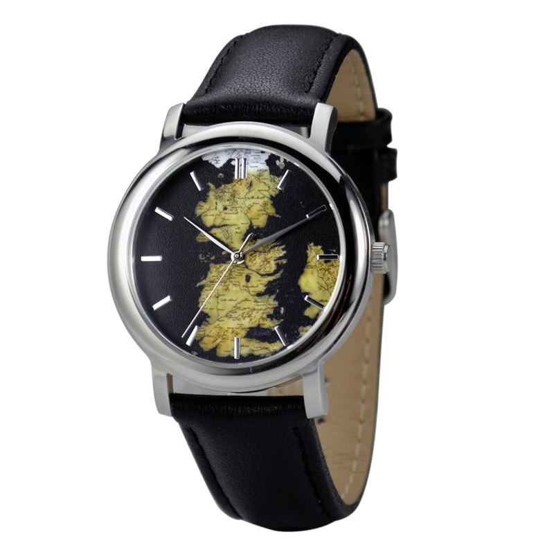Nameless Westeros-Map Watch Black - Unisex - Free shipping worldwide