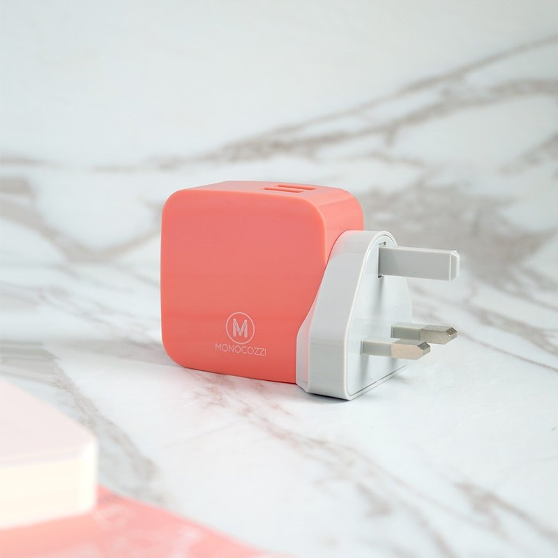 Smighty 4.2A Dual USB Wall Charger with interchangeable multinational connectors