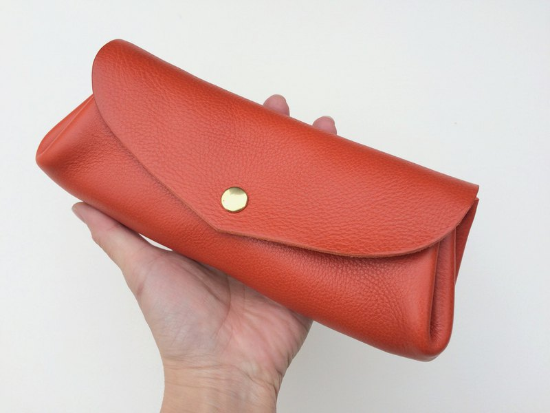 Italian leather heart wallet fave L Arancia