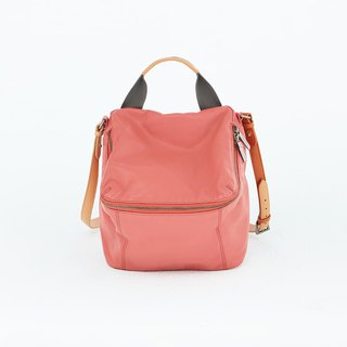 Pimm's Lightweight Sheepskin Casual Backpack - Orange Powder