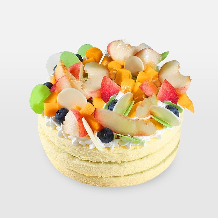 <Qiao Si nibbling series> vanilla green tea comprehensive fruit 7-inch cake